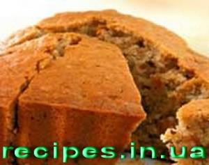 Постный кекс с изюмом и орехами
