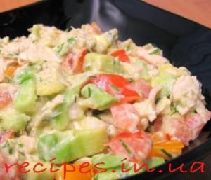 Рецепт салата с авокадо
