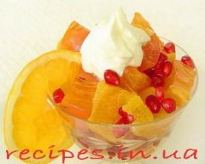 Салат из хурмы и апельсина