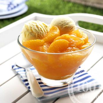 Десертный суп с мандаринами