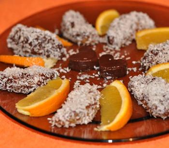 Быстрый десерт Апельсины в шоколаде