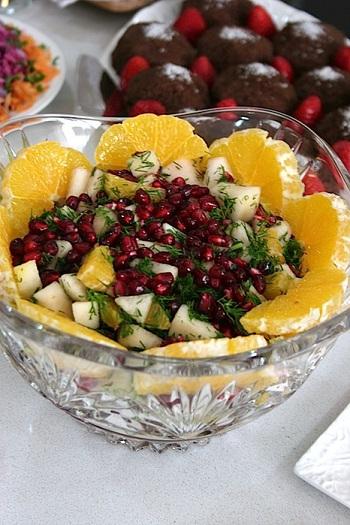 Фруктово-ягодный десерт с калиной