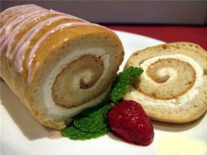 Быстрый десерт Бисквитный рулет