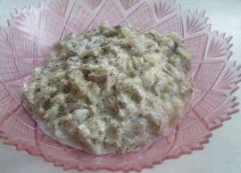 Тушёные грибы в сметане
